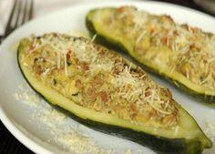 Esta es la Receta de Zapallos Italianos Rellenos, una deliciosa manera de consumir esta verdura, Ingredientes y Modo de Preparación facilmente paso a paso