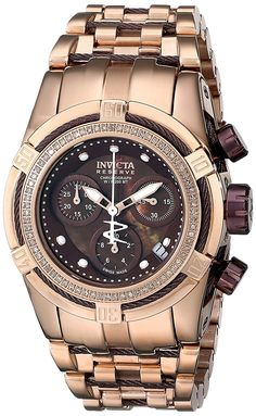Invicta Women's 15453 Bolt Analog Display Swiss Quartz Rose Gold Watch -- Read more at the image link.