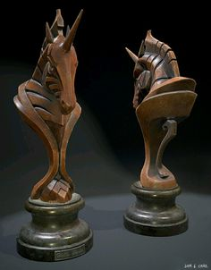 Wood Carving of a Rook Chess Piece