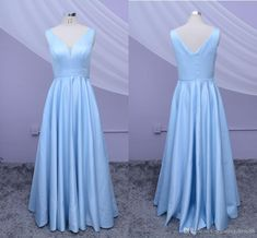 Real Photo Simple Light Blue Cheap Bridesmaid Dress Plus Size V Neck Satin Backless Wedding Guest Party Prom Dress Gowns Robes De Demoisel 2020 Maid of Honor Dresses Country Beach Boho Bridesmaid Dresses Short Dresses for Wedding Party Evening Online with $97.01/Piece on Stunningdress88's Store | DHgate.com Bridesmaid Dresses Plus Size, Prom Party Dresses, Plus Size Dresses, Dresses For Sale, Short Dresses, Wedding Dresses, Maid Of Honour Dresses, Backless Wedding, Party Guests