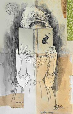 Bookporn by artist on tumblr Loui Jover. Shop | Facebook | Twitter | Instagram | Pinterest. me n books n girls ;) a few favorite things