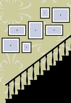 Step It Up. (3) 16x20 (2) 10x20 and (2) 8x10.  ------------ #galley #wall #stairway #stairs #picture #frames #custom #framing