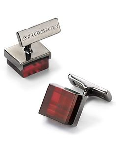 Burberry Check Square Cuff Links