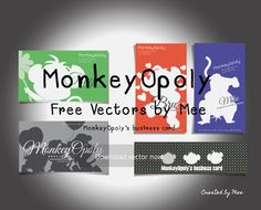 MonkeyOpoly's business card.