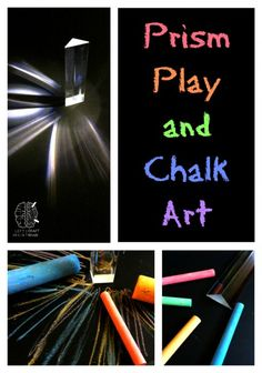 Prism Play and Chalk Arts helps kids learn about prism #science and make some striking art at the same time.  From Left Brain Craft Brain.