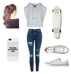 """Simple Grey"" by internationalmusiclover on Polyvore featuring Topshop, adidas, Converse and Quiksilver"