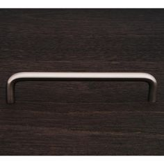 This satin nickel finish oversized cabinet pull with wire design from RK International is perfect for use on cabinet doors and drawers capable of accepting a mounted pull.