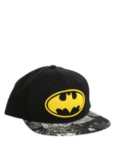 Actually got this as a part of bf's gift, hope he likes it -- DC Comics Batman Logo Snapback Ball Cap