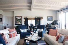 Laguna Cottage - traditional - living room - los angeles - by Darci Goodman Design