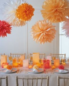 Orange Wedding Decorations | http://simpleweddingstuff.blogspot.com/2014/01/orange-wedding-decorations.html
