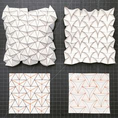 Ron Resch tessellation and curved version | by mike.tanis