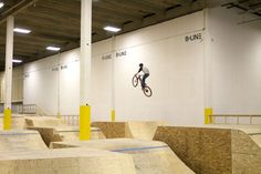 B-Line Indoor Bike Park is a 60,000-square-foot facility with features for beginner, intermediate and advanced riders.