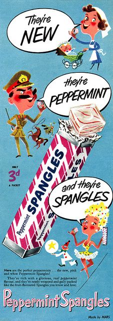 Peppermint Spangles advertisement. by totallymystified, via Flickr