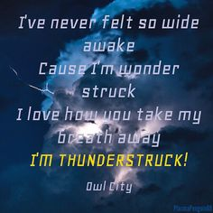 Thunderstruck from the album Mobile Orchestra by Owl City