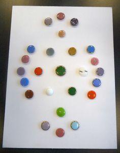 A card of design under glass buttons.