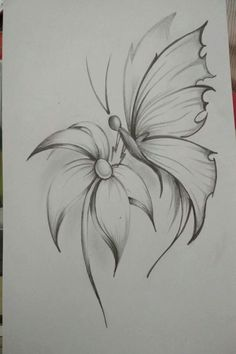 Easy Flower Pencil Drawings For InspirationYou can find Pencil drawing tutorials and more on our website.Easy Flower Pencil Drawings For Inspiration Easy Pencil Drawings, Pencil Drawings Of Flowers, Pencil Shading, Pencil Drawing Tutorials, Flower Sketches, Cute Drawings, Tattoo Drawings, Drawing Sketches, Drawing Ideas