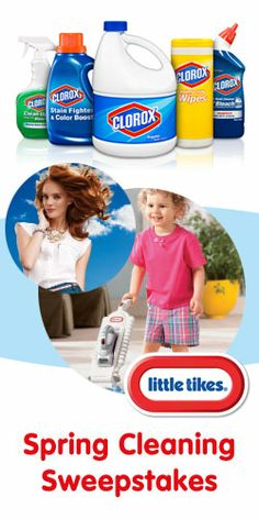 Little Tikes' Spring #Cleaning #Sweepstakes! Win a Shopping Spree & #Clorox Products for a Year! VALID UNTIL APRIL 7