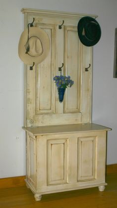 hall tree made from doors | Custom Laura's Door Panel Hall Tree by Country Woods Designs ...