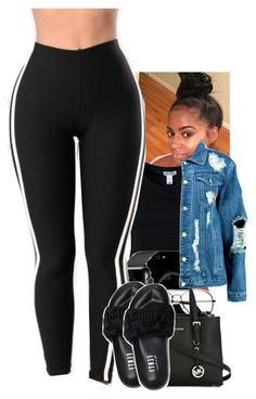 Untitled #1797 by toniiiiiiiiiiiiiii ❤ liked on Polyvore featuring Estradeur, ZeroUV, MICHAEL Michael Kors, Puma and Boohoo
