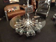 Rotary engine coffee table