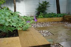 H C Landscape's project with railway sleepers 8