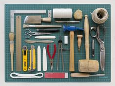 bookbinding Tools Organized Neatly
