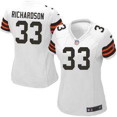 Women's Nike Cleveland Browns #33 Trent Richardson Elite White Jersey$109.99