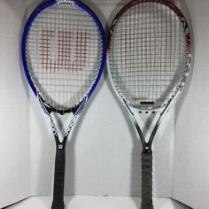 2 Wilson Tour Slam Impact Titanium Tennis Racquets L3 4 3/8 Stop Shock Pads  #Wilson