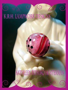 https://flic.kr/p/ESPceR | Pink Dichroic Lampwork | Pink Lampwork Dichroic Bead