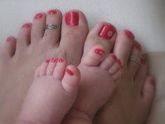 ... We would have matching tootsies