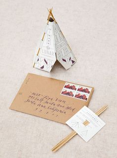 teepee #invitations for a Sedona wedding by http://www.wearedevice.com | Photography by aarondelesie.com, Design by http://lisavorce.com   Read more - http://www.stylemepretty.com/2013/09/03/sedona-wedding-from-aaron-delesie-lisa-vorce-mindy-rice/