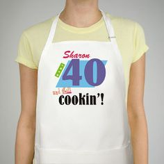 Still Cookin Apron 40th Birthday Apron #birthdaygifts #birthdaypresents #40th #giftideas