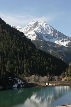 ~ Silver Glance Lake w/ Mt Timpanogas ~ American Fork Canyon, Utah....
