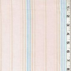 Pink Stripe Voile - Discount Fabrics
