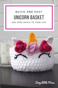 Quick and Easy Unicorn Basket
