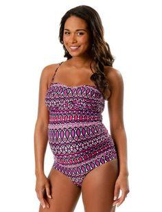 Motherhood Maternity: Convertible Straps Maternity Tankini Swimsuit $29.99