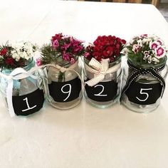 80th Birthday Centerpieces Centerpieces Ornament and Change