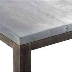 stern counter table in dining tables | CB2    Shot of the mini nail heads. :)
