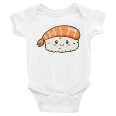 Sushi Onesie, Shirts, matching family outfits - Winky Shiba Co. Matching Family Outfits, Shiba, Baby Bodysuit, Sushi, Onesies, Infant, Daddy, Cute, Kids