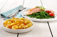 Inspiratie voor uw keuken: Vers gebakken zalmfilet met zeekraal en Lemon Pepper aardappeltjes #recept #aardappel #zalm
