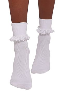 Socks And Heels, Lace Up Heels, Ankle Socks, Long White Socks, White Knee High Socks, Frilly Socks, Cute Socks, Knee Socks Outfits, Dr Shoes