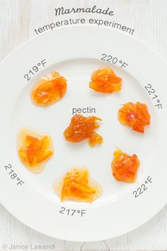 """I love shopping for preserves, and I love eating preserves. I love making preserves too, but here's the thing: I cannot stand recipes that suggest that I cook my jam to the """"desired consistency"""" or until it """"passes the wrinkle plate test"""". Say what? Let's be honest. I am not an expert at making preserves. …"""