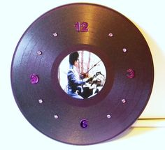 PRINCE PURPLE RAIN Inspired Vinyl Record Wall Clock