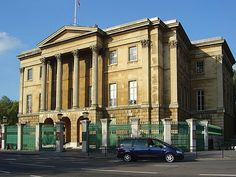 Apsley House - Hyde Park Corner.  The address is No.1, London. Home of the Duke of Wellington, now a museum, I think?'