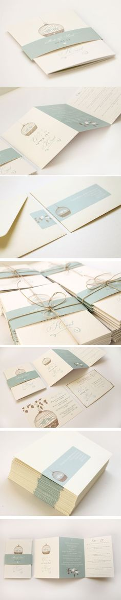 birdcage wedding invitations by studio seed #weddinginvitation