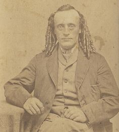 Victorian man with long, curls -- 1800s
