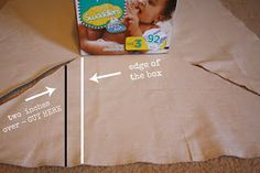 Live a Little Wilder: covered diaper boxes {tutorial}