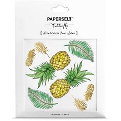 PAPERSELF Pineapple Temporary Tattoo ($10) ❤ liked on Polyvore featuring accessories and body art