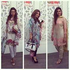 Benita, Amber & Anum at the #tabassummughal lawn launch #happeningnow in #karachi 🌸🌸🌸