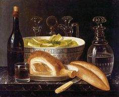 Unknown flemish still life with meat pies and roast for 17th century french cuisine